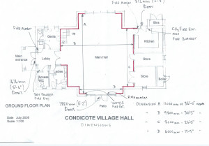 Condicote Village Hall Floorplan